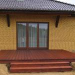 drewniany taras modrzew syberyjski bloczki